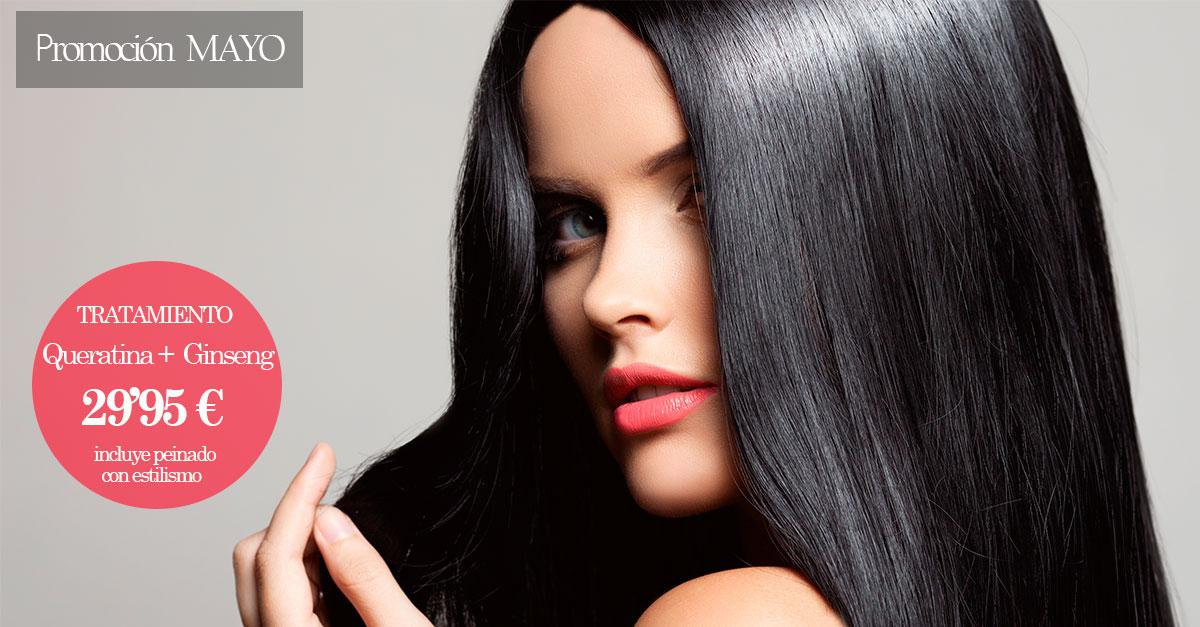 Luce un pelo sano y fuerte con el tratamiento Queratina + Ginseng